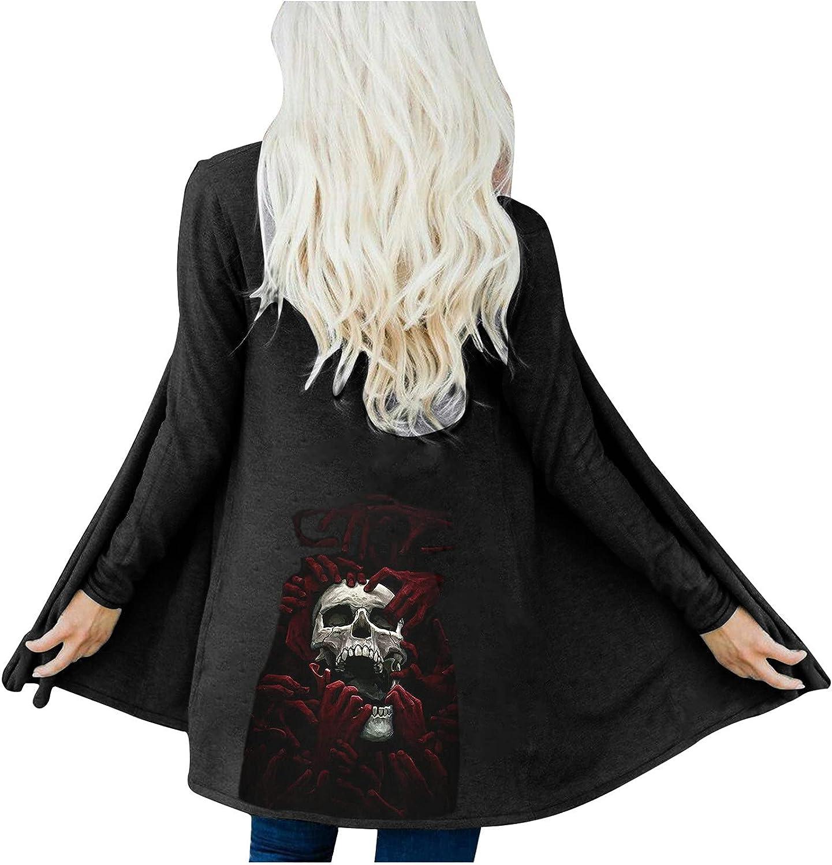 Cardigan Sweaters Fashion Women Halloween Print Long Sleeve Cardigan Autumn Coat Blouse Tops