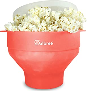 Original Salbree Microwave Popcorn Popper, Silicone Popcorn Maker, Collapsible Bowl - The Most Colors Available (Coral)