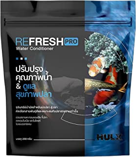 HULX Refresh Pro 250 g. Fish Water Conditioner Treatment Powder Healthy Nutrition Color Enhancer Fish Care Clean Clear Wat...