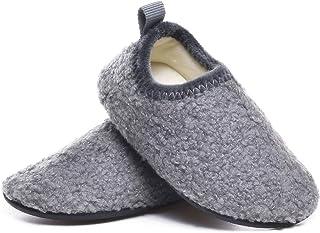 Sponsored Ad - SLEVEL Toddler Boys Girls House Socks Slippers Little Kids Lightweight Indoor Home Shoes