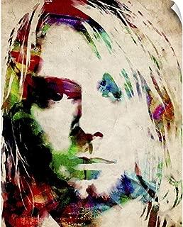 CANVAS ON DEMAND Kurt Cobain Urban Watercolor Wall Peel Art Print, 19