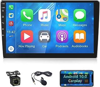 CAMECHO Radio de Coche Android 2 DIN con Apple Carplay 10.1 Pulgadas Pantalla táctil Autoradio GPS Bluetooth WiFi RDS FM +...