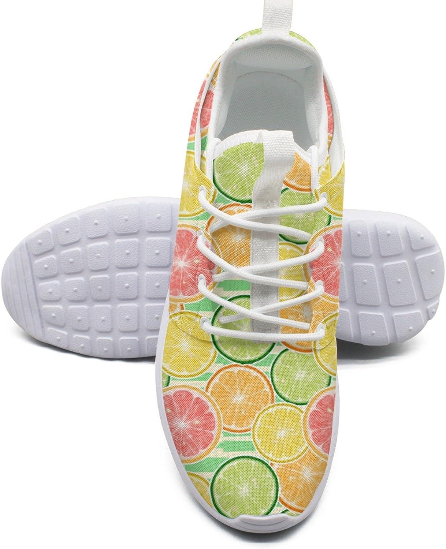 ERSER Lemon Slice Running shoes for Women Light Weight