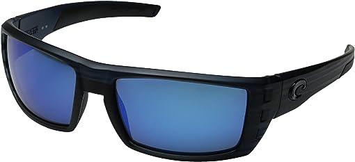 Black Teak Frame/Blue Mirror Glass W580