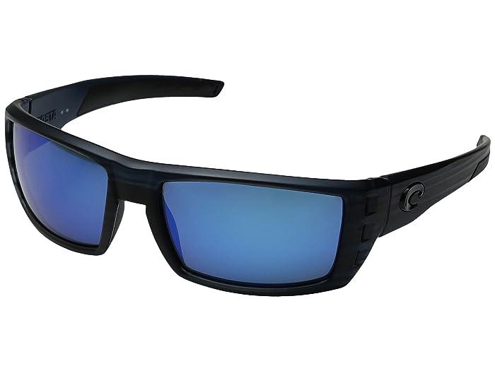 Costa  Rafael (Black Teak Frame/Blue Mirror Glass W580) Fashion Sunglasses