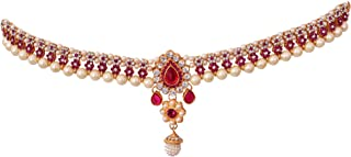 Arroz Multi-Color Traditional Kamarpatta Pearl and Stone Bridal Belly Chain Kamarband for Women, Girls & Ladies