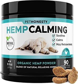 Sponsored Ad - PetHonesty Hemp Calming Treats for Dogs - All-Natural Soothing Snacks with Hemp + Valerian Root, Stress & D...