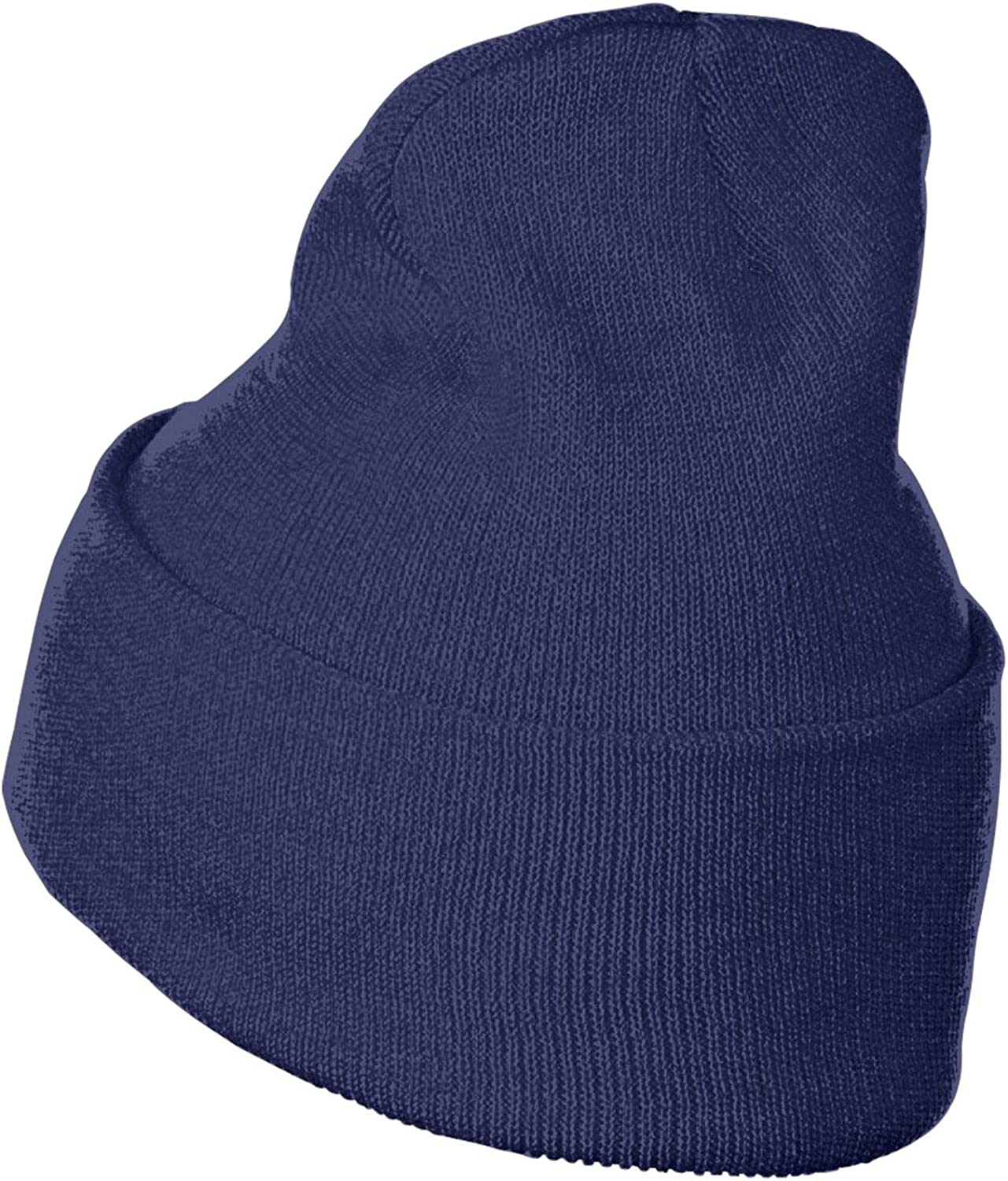Kcoremia 4hunnid Comfortable Beanie Hat Winter Solid Color Warm Knit Ski Cap Black