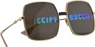 غوتشي GG0414S نظارة شمسية لون ذهبي مع عدسات مراة ملونة 60 ملم 002 GG0414/S 0414/S GG 0414S