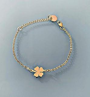 Bracciale Trifoglio, bracciale donna gourmet in trifoglio in acciaio inossidabile oro, bracciale da donna, bracciale d'or...