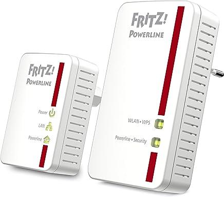 AVM FRITZ! Powerline 540E WLAN Set International Adattatore, PLC, Compatibile HomePlug AV2, IEEE P1901, 500 Mbps, Punto di Accesso WiFi integrato N, 2 Porte LAN Fast Ethernet, Interfaccia in Italiano - Confronta prezzi