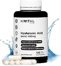 Ácido Hialurónico puro 400 mg | 120 cápsulas veganas (Suministro para 4 meses) | Alta dosis, concentración y biodisponibilidad que mantiene los cartílagos, articulaciones, huesos y piel sanos