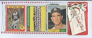 1961 Topps Baseball Unopened Christmas Rack Pack - Phillies Team