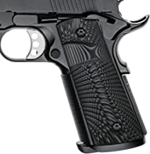 Cool Hand 1911 G10 Grips, Screws Included, Full Size (Government/Commander), Magwell Cut,Big Scoop, Ambi Safety Cut, Sunbu...
