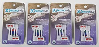 30 Second Smile - Ultra Extra Soft (4 Pack) Dual Brush Replacement Heads for Electric Toothbrush - Teeth Whitening, Plaque Removal, Oral Care - Dentist Recommended