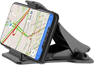 Awezon Car Phone Mount Black Clamp 6 for iPhone x/8/7/6s/plus Galaxy s9/s8/s7/s6/note GPS Dashboard Cell Phone Holder for Car