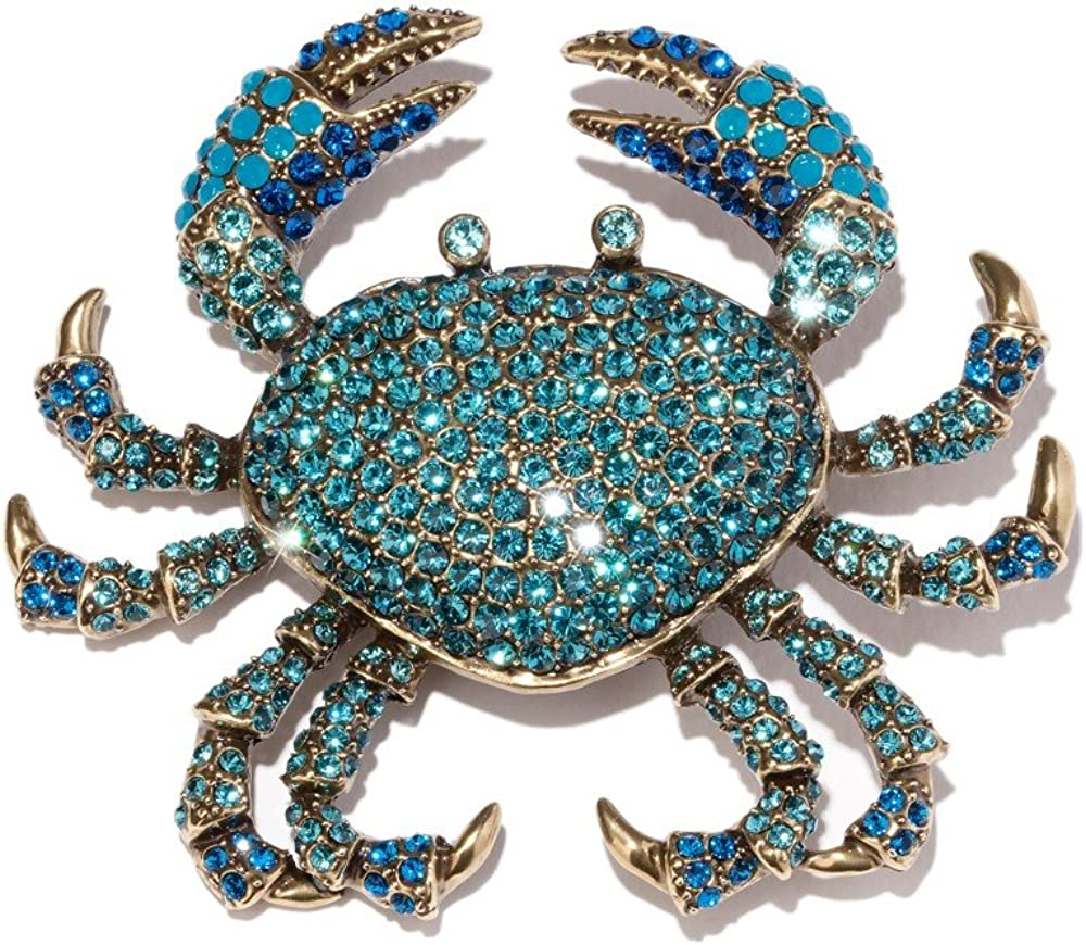 HEIDI Ranking TOP16 DAUS Super special price QUEEN CRAB PIN BLUE DARLING COLOR ABSOLUTELY RARE CRI