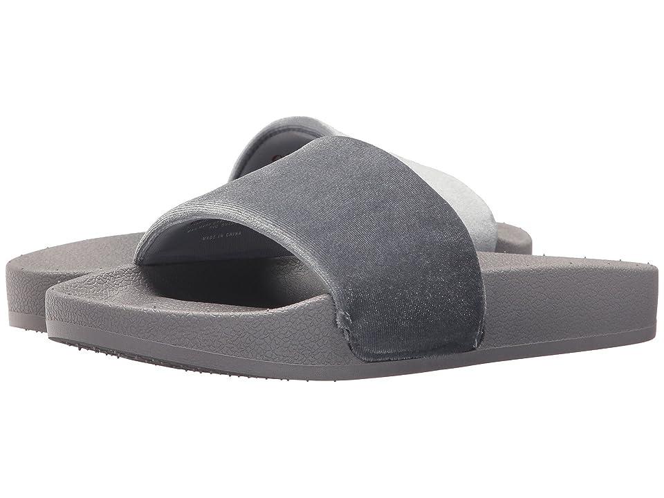 Chooka Velvet Slide (Gray) Women