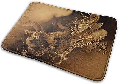 Non-Slip Doormats Dragon Entrance Rug Indoor/Outdoor Carpet Absorbs Moisture Washable Dirt Trapper Mats