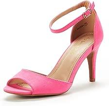 DREAM PAIRS Women's Eileena Fashion Stilettos Open Toe Heels Pumps Sandal