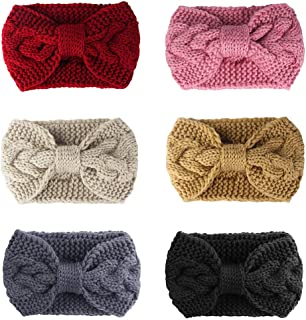 6PCS Winter Headband for Women Cable Knitted Headbands Stretch Ear Warmer Headband Gift for Women girls