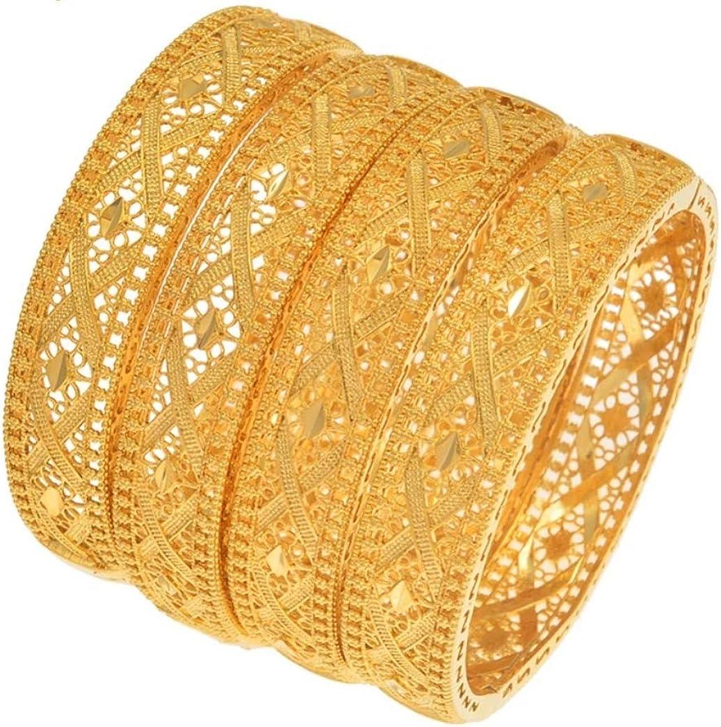 24K real gold plated Dubai bangle jewelry bracelet openable bangle 1 pc