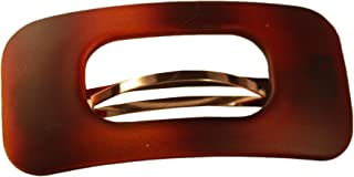 Parcelona 法国复古哑光 Celluloid 玳瑁发夹 发夹 - 大约 7.62 cm