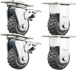 Casters 4 meubelwielen, rem, draaibaar, Silent Slip, duurzaam, 4/5/6/8 inch (12,7 cm) trolley Heavy Duty Industrietranspor...