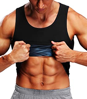 Chaleco Sauna Faja Reductora Adelgazante Hombre Premium Polímero Compresión Cómoda Camiseta de Sudoración para Quema Grasa Pérdida de Peso - Deporte Fitness