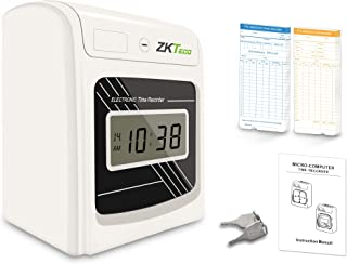 ZKTeco Punch Time Clock Bundle with 100 Time Cards, Starter Time Clocks for Employees Small Business - Attendance Checks i...