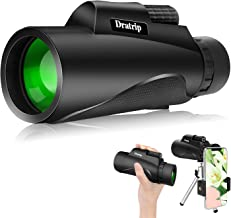 Monocular Telescope, 12X50 High Power HD Monocular with Smartphone Holder & Tripod, Waterproof Monocular with Durable and ...