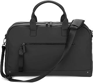 The Friendly Swede Weekender Reisetasche für Damen und Herren - Hochwertige Duffle Bag Reisetasche Handgepäck Tasche - VRETA Travel Bag - 35L, Veganes PU Schwarz Mat