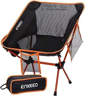ENKEEO Silla de Camping Ultraligero Portátil Plegable con