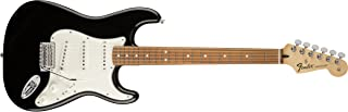 Fender 4 String Standard Stratocaster Electric Guitar-PAU Ferro Fingerboard, Black (144603506)