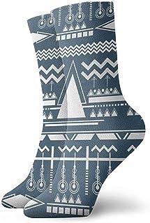 Kevin-Shop, Ilustración de Calcetines étnicos de Tobillo Calcetines Casuales y acogedores para Hombres, Mujeres y niños