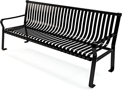 Frog Furnishings Aspen Bench, 6', Black