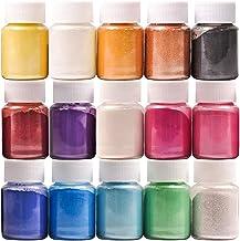 Dewel Pigmentos para Resina Epoxi 15 * 10g, Mica en Polvo, Colorante Resina Epoxi, Colorante Jabon, para Bombas de baño, M...