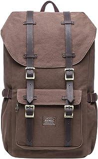 KAUKKO Rucksack Damen Herren Studenten 17 Zoll Backpack für 15 Notebook Lässiger Daypacks Schüler Bag für Wandern 46 cm, 20 L