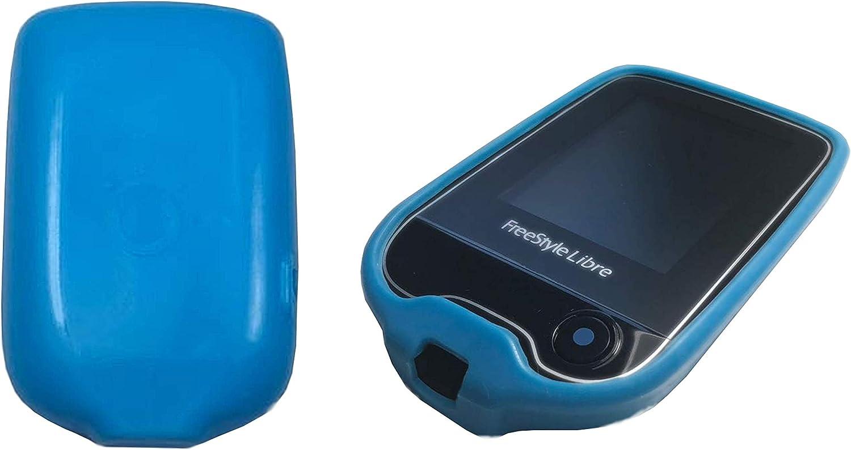 Funda protectora para el medidor de glucosa Freestyle Libre, antideslizante, ajuste 100% perfecto, en color azul