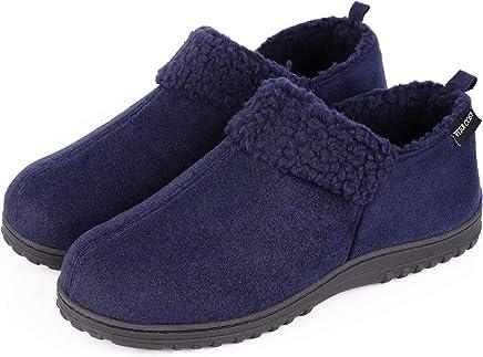 a8758735d VeraCosy Men's Wool-Like Fleece Clog Slippers, Comfort Memory Foam  Anti-Slip House