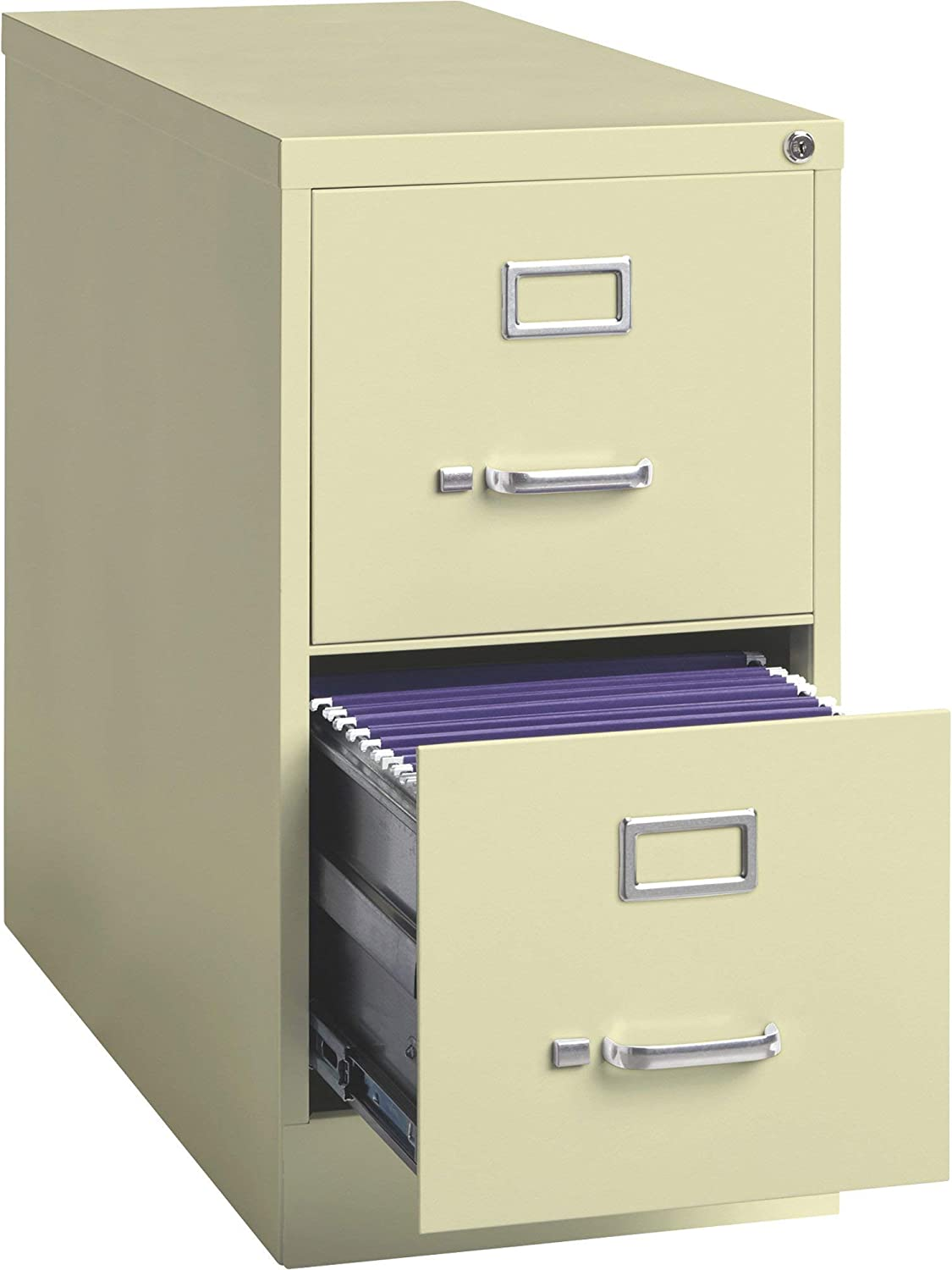Hirsh Industries 2 Drawer Letter File Cabinet Putty 15in W X 26 5in D X 28 4in H Model Number 14415 Office Products Amazon Com