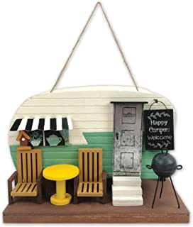 Sunset Vista Designs BPS15346 Decorative and Functional Outdoor Birdhouse, Sea Foam Green Camper