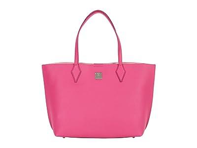 MCM Yris Shopper Medium (Pink Peacock) Bags