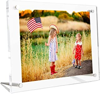 8.5x11 8x10 Clear Acrylic Picture Frame Tabletop, Lucite Plexilgass Picture Frames for Photos Poster Certificate Signs Artwork Art Print Tabletop Display - A4 Letter Size (Full Frame 9.5x13.5 inch)