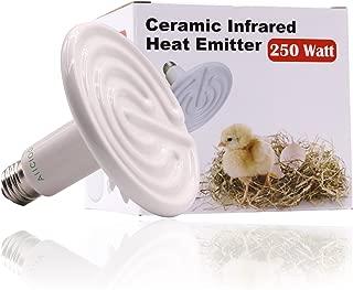 Aiicioo 250 Watt 110 Volt Ceramic Heat Emitter for Reptiles or Amphibians White