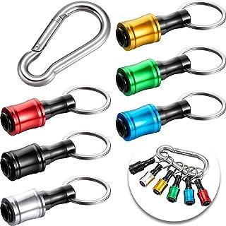 "6pcs 1//4/"" Hex Shank Keychain Screwdriver Bit Holder Bit Drill Bit Holder Tool"