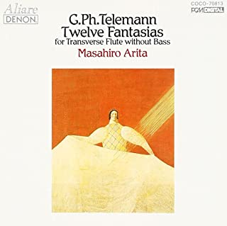 テレマン:無伴奏フルートのための12のファンタジー