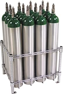 Stack & Rack Oxygen Tank Storage Rack - Holds 12 E Size Cylinders by W.T. Farley Inc