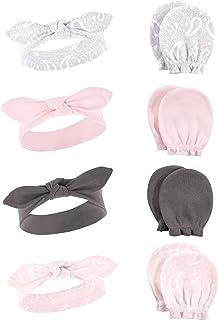 Hudson Baby Baby Cotton Headband and Scratch Mitten Set