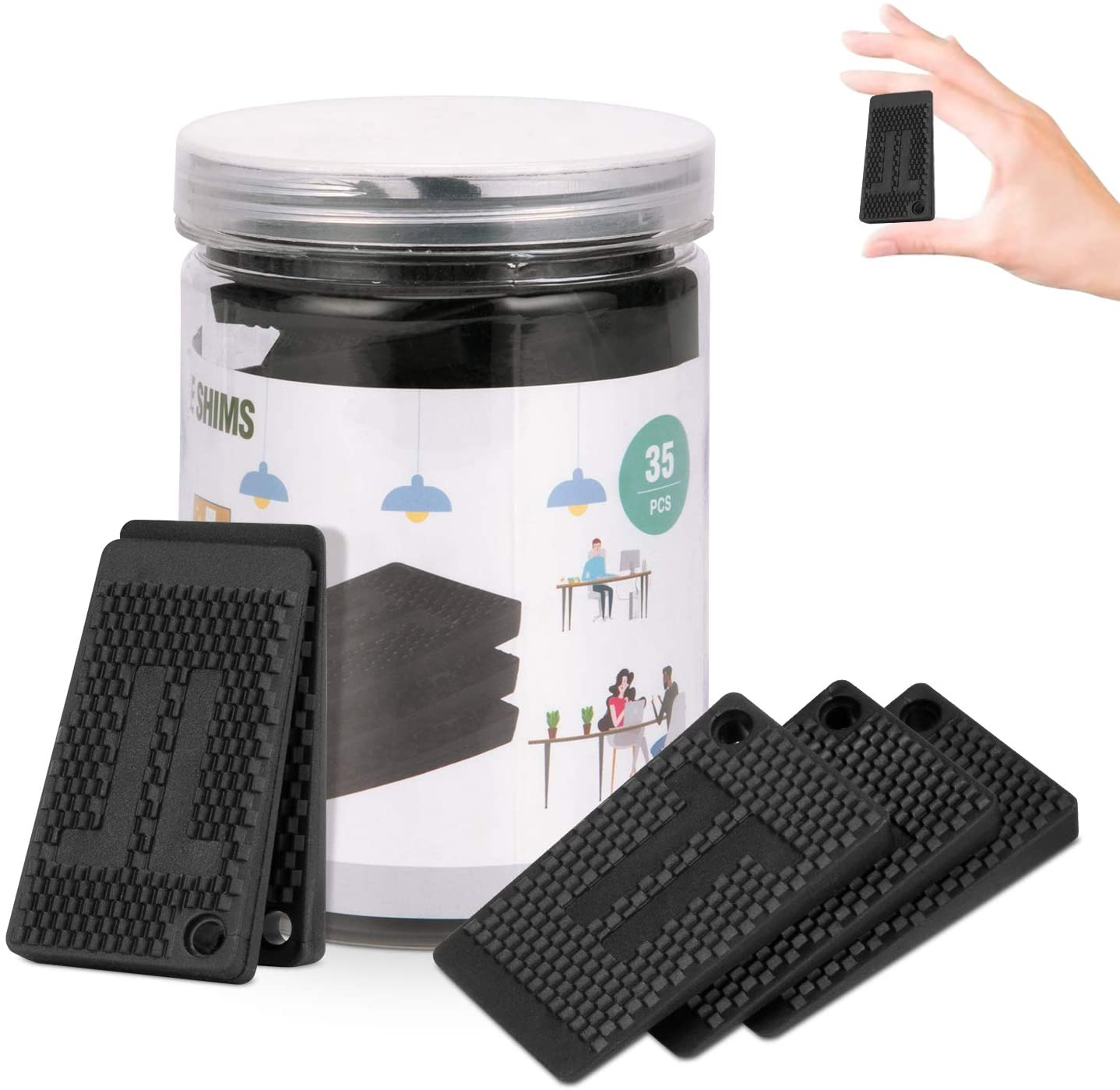 Plastic Shims Furniture Pads Levelers Spring Bombing new work new work 35 D and Strong Durable PC